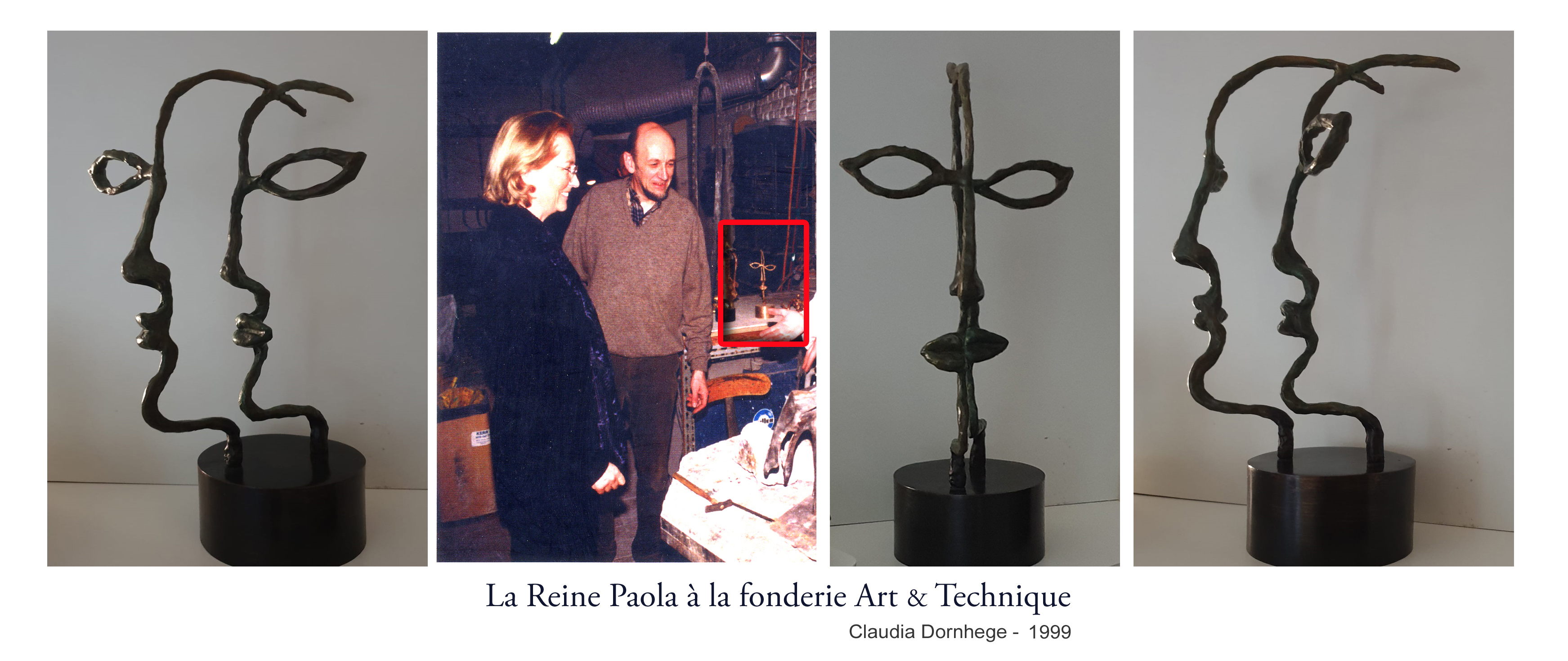 Reine Paola - Fonderie Art & Technique - Claudia Dornhege 1999